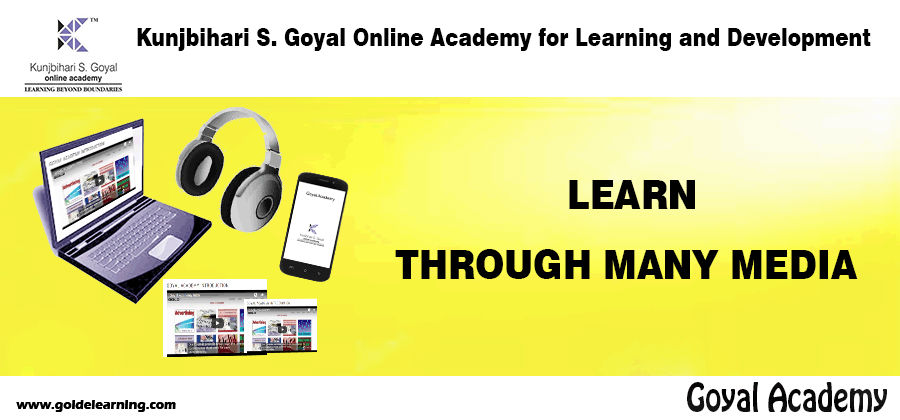 Learn online at anytime.
